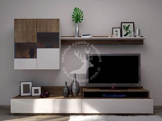 İMHOTEP COUNTRY FURNİTURE Proje Tasarım&Aydınlatma Modern living room OSB White
