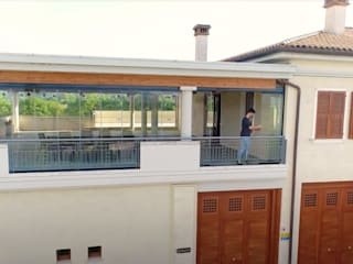 Modern style balcony, porch & terrace by New Time S.p.A. Modern