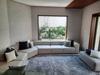 Sala Fresh con Puff & Cortinas de ACY Diseños & Muebles Moderno