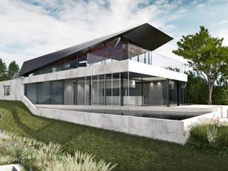 Haus R Najjar - Najjar Architekten Villa Beton Grau