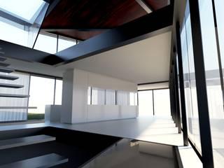 Haus R Najjar - Najjar Architekten Moderne Wohnzimmer Massivholz Braun