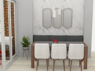 Decó ambientes a la medida Ruang Makan Modern