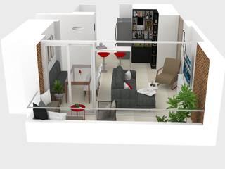 Decó ambientes a la medida Ruang Keluarga Modern