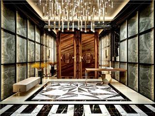 Escritórios modernos por Singapore Carpentry Interior Design Pte Ltd Moderno