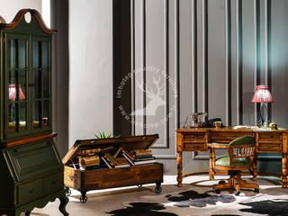 İMHOTEP COUNTRY FURNİTURE Proje Tasarım&Aydınlatma Study/officeCupboards & shelving Solid Wood Green