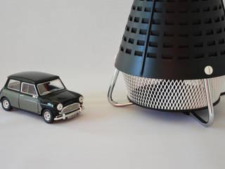 Lampe noire vintage design upcycling issue d'un radiateur Tornado années 60/70 ArtJL SalonEclairage Plastique Noir
