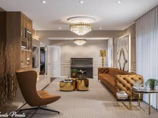 Camila Pimenta | Arquitetura + Interiores Salas de estilo clásico Madera Beige