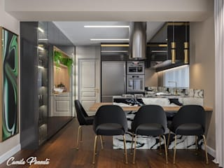 Camila Pimenta | Arquitetura + Interiores Muebles de cocinas Madera Negro