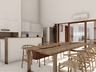 Proyecto Quincho C • Crea Interiorismo y Arquitectura Salas multimedia escandinavas