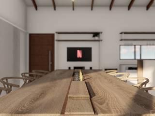 Proyecto Quincho C • Salas multimedia escandinavas de Crea Interiorismo y Arquitectura Escandinavo