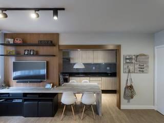 Apê Nanquim - apartamento das irmãs Estúdio Dozi Cozinhas modernas