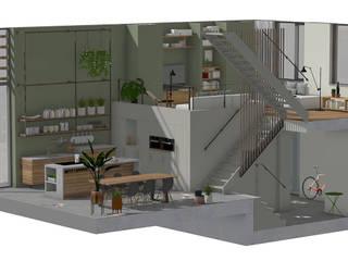 Splitlevel interieur Kijkduin Industriële keukens van Bergblick interieurarchitectuur Industrieel