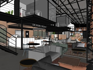 Hub de Inovação - Verso Estúdio Dozi Espaços comerciais industriais
