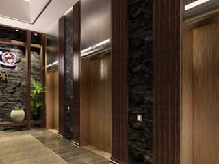 SPA Area Interior Design Modern corridor, hallway & stairs by TheeAe Architects Modern