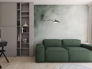 Mieszkanie w Warszawie Nowoczesny salon od TIKA DESIGN Nowoczesny