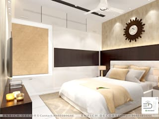 Masterbedroom Modern style bedroom by Enrich Interiors & Decors Modern
