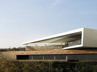 Haus M Najjar - Najjar Architekten Villa Stein Braun