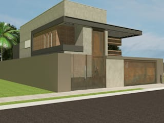 Casas de estilo industrial de Júlio Padilha Fabiani - Arquiteto Industrial