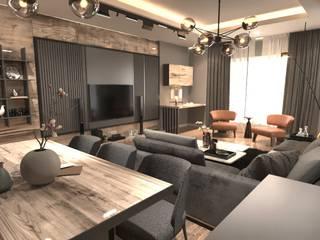 NDA CONCEPT – Ataşehir daire tasarım & uygulama: modern tarz , Modern