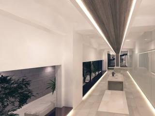 الممر الحديث، المدخل و الدرج من 株式会社seki.design حداثي