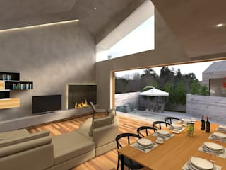 Modern Living Room by 株式会社seki.design Modern