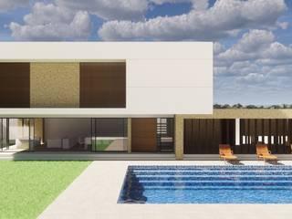 Bless Arquitetura & Interiores Rumah teras Beton White