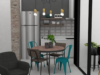 Decó ambientes a la medida Industrial style dining room