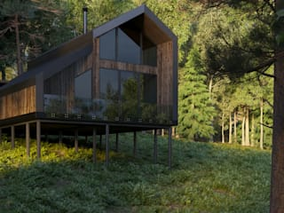 Hotel in stile scandinavo di Grynevich Architects Scandinavo