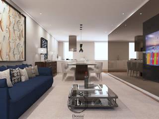 Donna - Exclusividade e Design Salones de estilo moderno Madera Beige