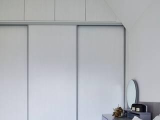 酒窩設計 Dimple Interior Design Small bedroom Wood-Plastic Composite White