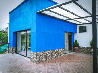 Casa campestre Azul Balcones y terrazas de estilo rural de Nacad Arquitectos Rural