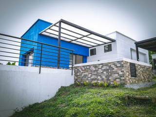 Casa campestre Azul Casas de estilo rural de Nacad Arquitectos Rural