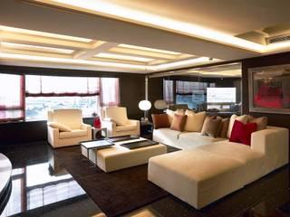 台中室內建築師|利程室內外裝飾 LICHENG Salones de estilo clásico