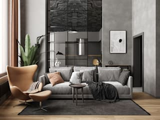 GM-interior Industrial style living room