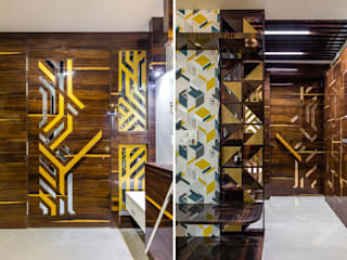Luxurious 4BHK Interiors at Gala Marvella Modern style doors by HGCG Architects Modern