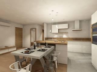 Rénovation d'une cuisine / Salle à manger par ILLU DESIGN ARCHITECTURE