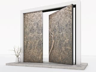 RK Pivot Doors / RK Pivot Haustür RK Exclusive Doors Puertas modernas Aluminio/Cinc Metálico/Plateado