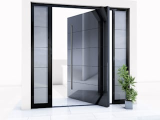 RK Pivot Doors / RK Pivot Haustür RK Exclusive Doors Glass doors Aluminium/Zinc Black