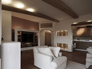 Architetto Alessandro spano Living room Wood Wood effect