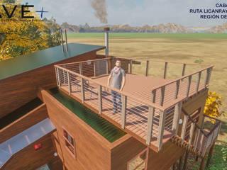 Varandas, alpendres e terraços rústicos por Nave + Arquitectura & Modelación Paramétrica Rústico