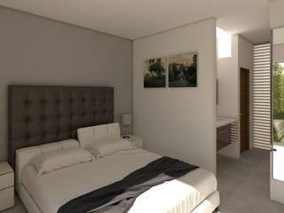 Residencia Cañada del Río Dormitorios modernos de Lynder Constructora e Inmobiliaria Moderno
