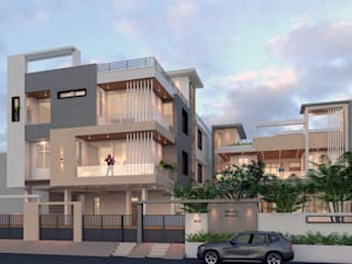 Ravi Prakash Architect Multi-Family house Reinforced concrete Beige