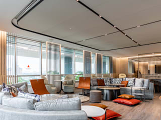 A Sleek and Contemporary Revival – Aedas Singapore Office by Aedas Interiors Modern study/office by Architecture by Aedas Modern
