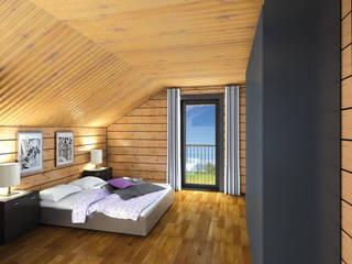 Country style bedroom by THULE Blockhaus GmbH - Ihr Fertigbausatz für ein Holzhaus Country