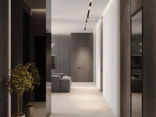 BORODINSKAIA Коридор, прихожая и лестница в модерн стиле от УММ5 Модерн