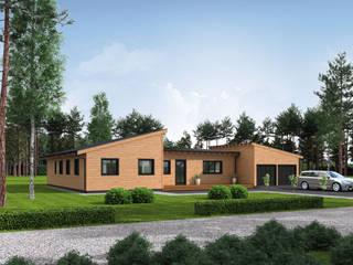 THULE Blockhaus GmbH - Ihr Fertigbausatz für ein Holzhaus Wooden houses Wood Brown