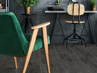 Floorwell Industrial style study/office Engineered Wood Black