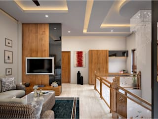 Monnaie Interiors Pvt Ltd Living roomSofas & armchairs Wood Wood effect