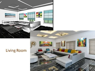 3D vs Current Site Pictures by A B Design Studio