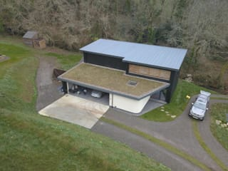 Featherbeds, Eco Friendly New Build In Truro - Cornwall Modern pool by Arco2 Architecture Ltd Modern